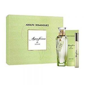 ADOLFO DOMINGUEZ AGUA DE AZAHAR SET (EDT SPRAY 100ML BODY LOTION 100ML MINI 7ML)