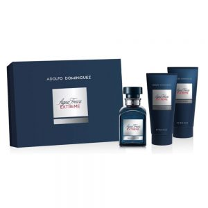 ADOLFO DOMINGUEZ AGUA FRESCA EXTREME SET (EDT SPRAY 120ML AFTER 75ML DEO 150ML)