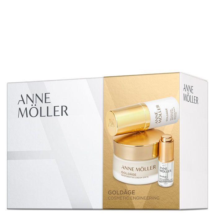 ANNE MOLLER GOLDAGE RESTORATIVE PACK CREMA DIA SPF15 50MLNOCHE 15MLSERUM 5ML