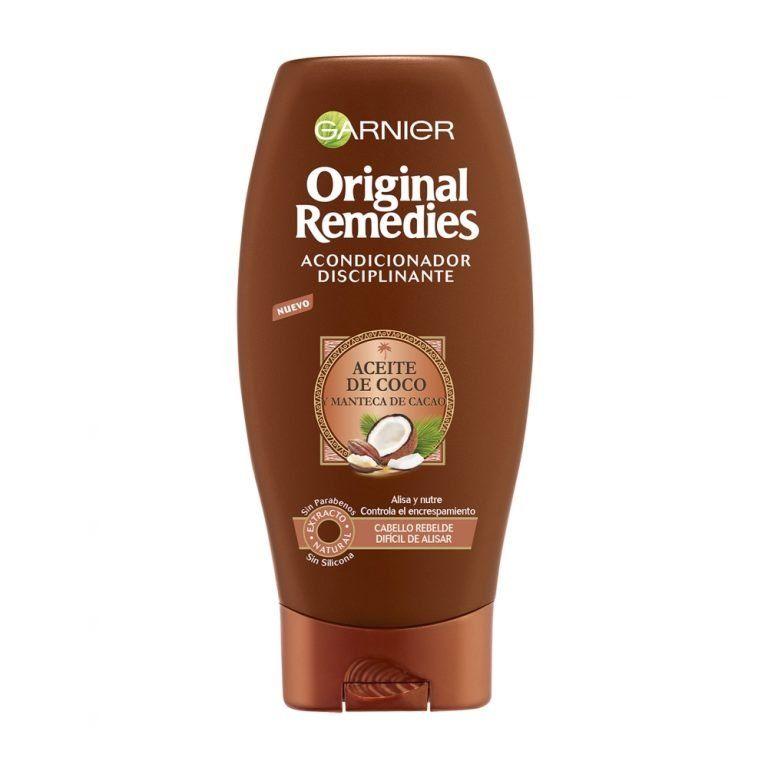 Garnier Acondicionador Disciplinante Original Remedies Aceite Coco Manteca Cacao Cabello Rebelde 000 3600542120944 Front