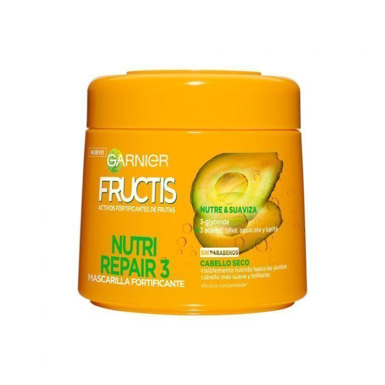 Garnier Hair Mask Fructis Nutri Repair 3Mascarilla Cabello Seco 000 3600541973961 Front