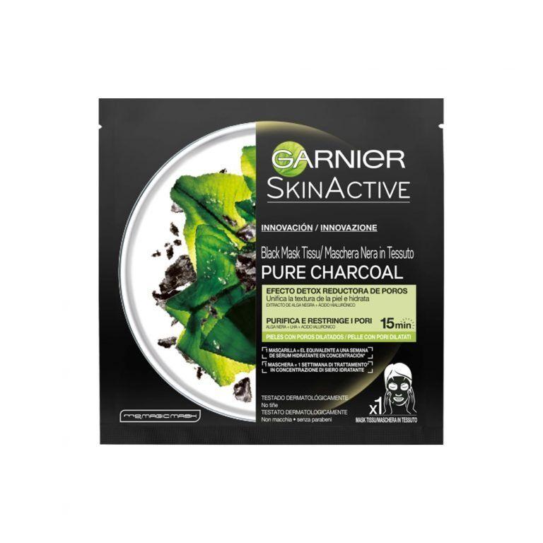 Garnier Mascarilla Mask Tissu Skin Active Efecto Detox Reductora poros 000 3600542097123 Front