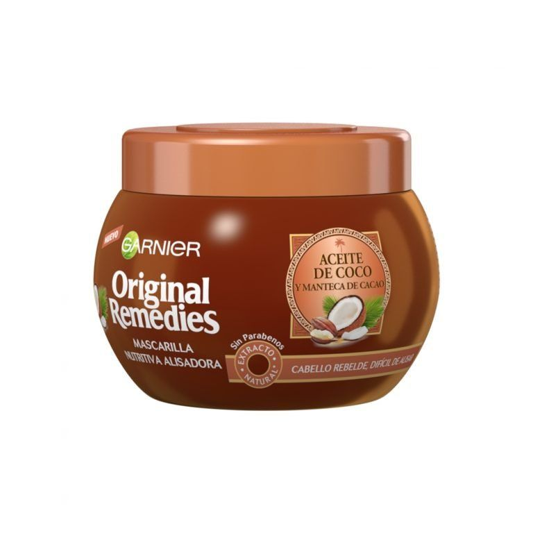Garnier Mascarilla Nutritiva Alisadora Original Remedies Aceite Coco Manteca Karite 000 3600542033244 Front