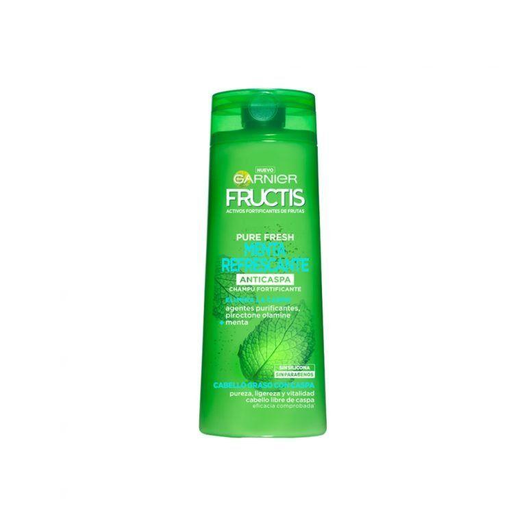 Garnier Shampoo Champu Fructis Muy Refrescante Anticaspa Cabello Graso 000 3600542027779 Front