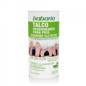 BABARIA DEO PIES 100ML TALCO