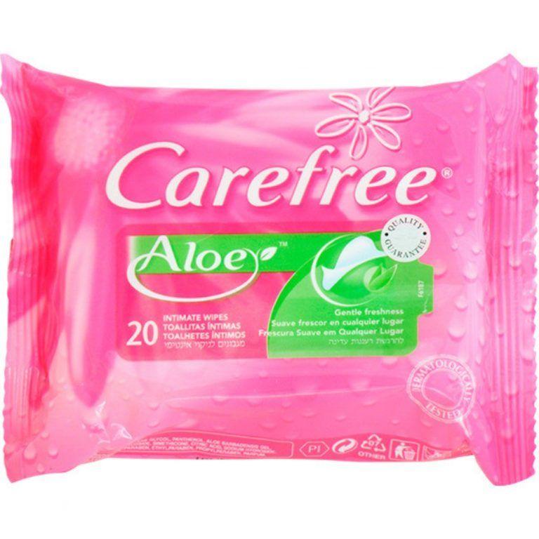 toallitas intimas con aloe carefree