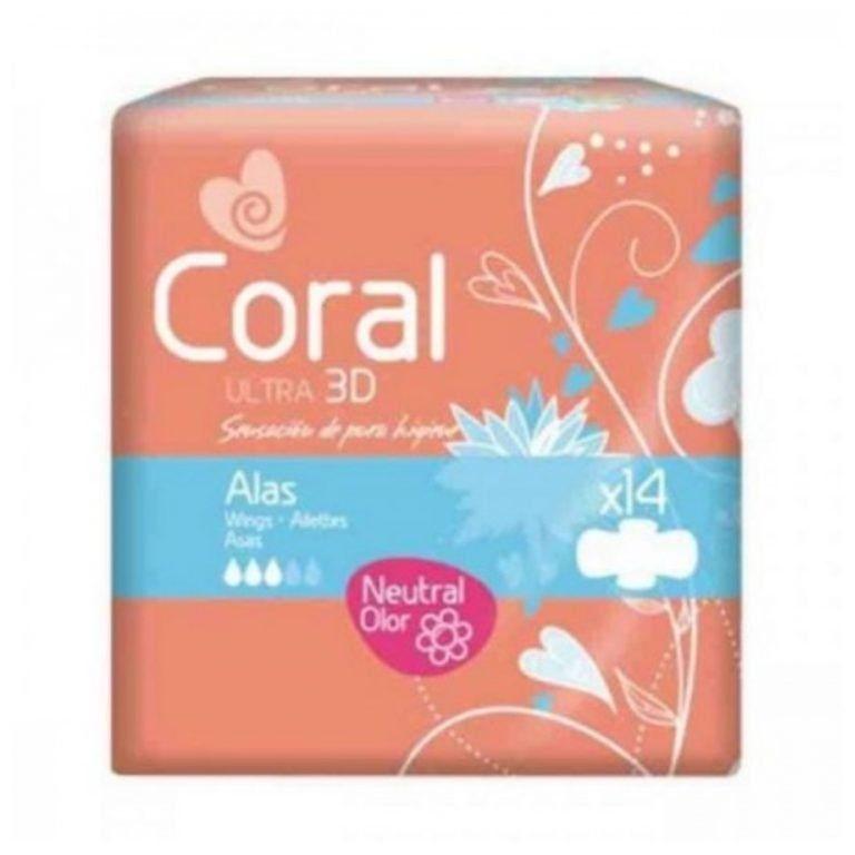 coral compresa ultra normal 14 und