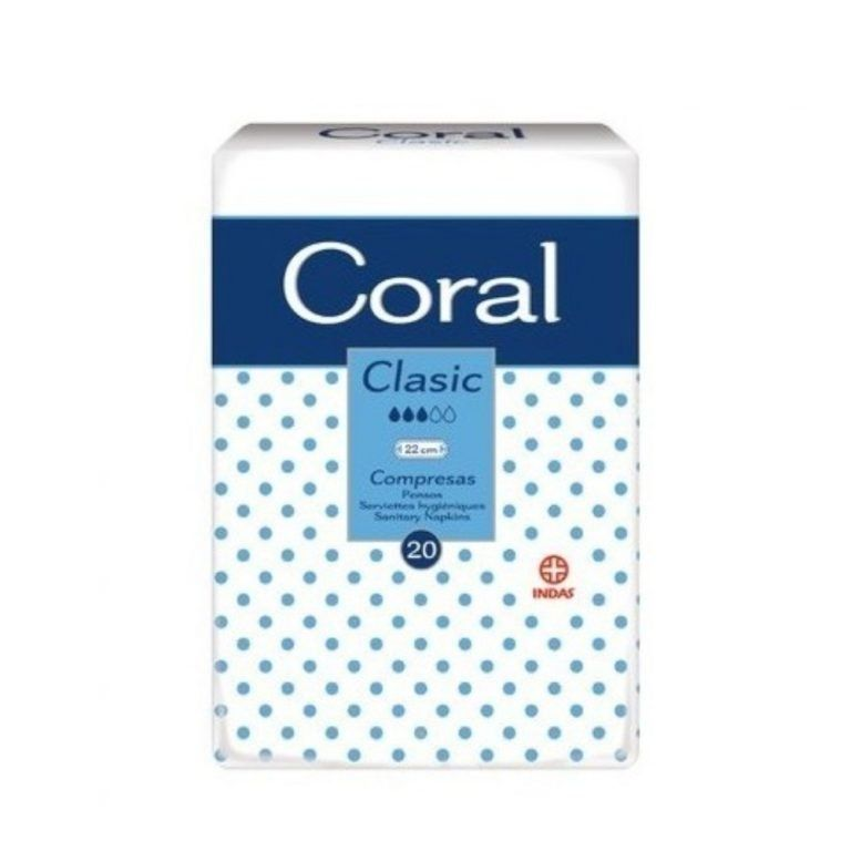coral compresas classic 20uds