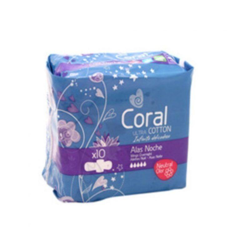 coral compresas ultra noche