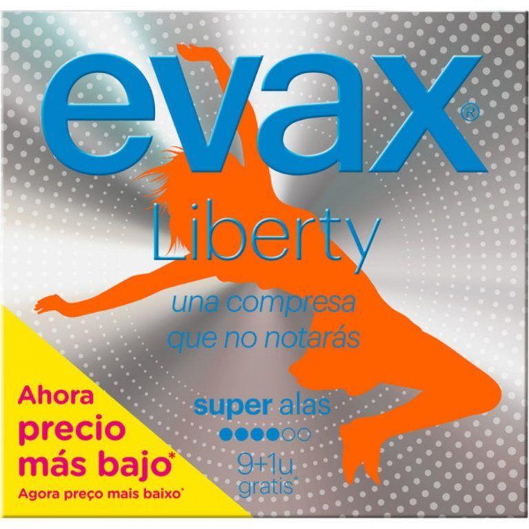 liberty compresa con alas super evax
