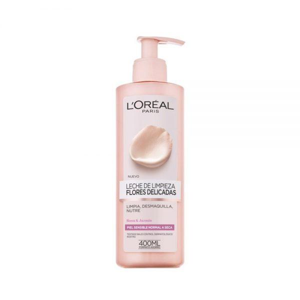 L Oreal Paris Cleanser Leche limpieza Piel Sensible Flores Delicadas 000 3600523449224 Front