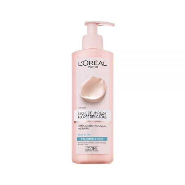 L Oreal Paris Cleanser Leche limpieza piel normal mixta Flores Delicadas 000 3600523449217 Front