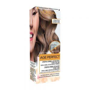 L Oreal Paris Hair Crema Embellecedora Cabellos Blancos Grises Casta o Claro Age Perfect 000 3600523451289 Front