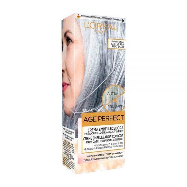 L Oreal Paris Hair Crema Embellecedora Cabellos Blancos Grises Gris Perla Plateado Age Perfect 000 3600523451241 Front