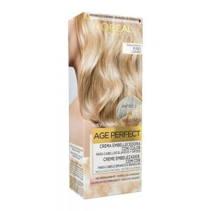 L Oreal Paris Hair Crema Embellecedora Cabellos Blancos Grises Rubio Age Perfect 000 3600523451272 Front
