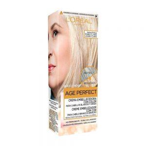 L Oreal Paris Hair Crema Embellecedora Cabellos Blancos Grises Rubio Claro Age Perfect 000 3600523451258 Front
