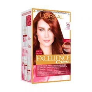 L Oreal Paris Hair Excellence Creme Casta o Claro Avermellado 000 8411300565083 Front