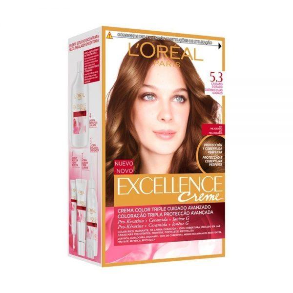 L Oreal Paris Hair Excellence Creme Casta o Dorado 000 5601036205596 Front