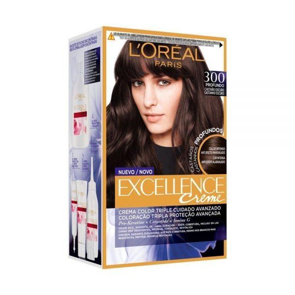 L Oreal Paris Hair Excellence Creme Casta o Oscuro 000 3600523573370 Front