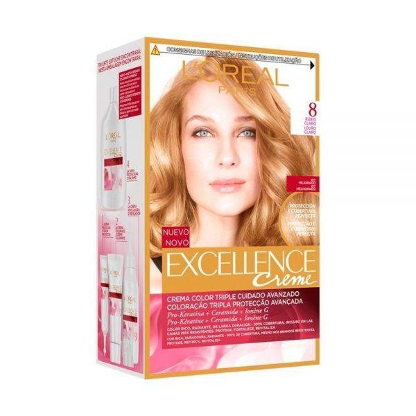 L Oreal Paris Hair Excellence Creme Rubio Claro 000 8411300565076 Front