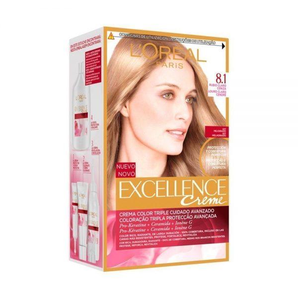 L Oreal Paris Hair Excellence Creme Rubio Claro Ceniza 000 8411300565120 Front