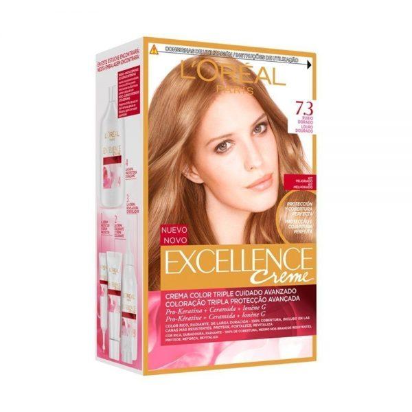 L Oreal Paris Hair Excellence Creme Rubio Dorado 000 8411300565113 Front
