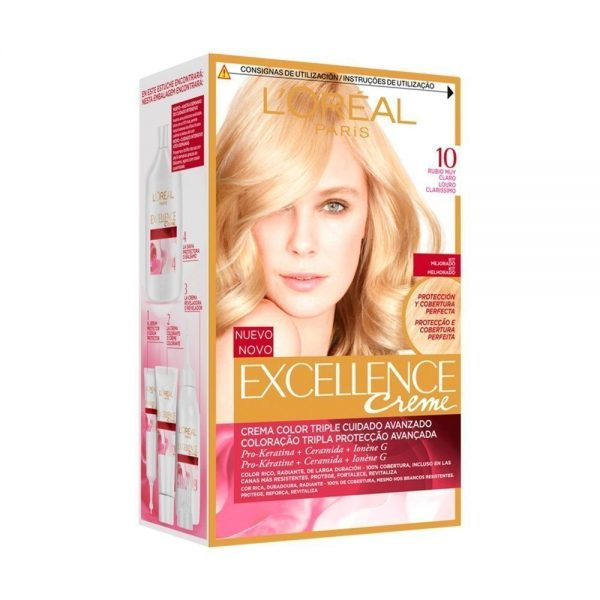 L Oreal Paris Hair Excellence Creme Rubio Muy Claro 000 8411300566196 Front