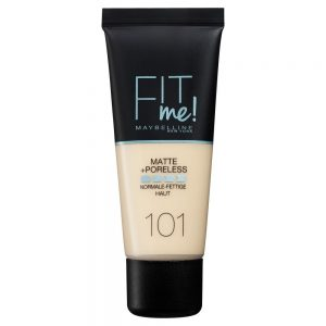 Maybelline New York Base de maquillaje Fit Me Mate y Afinaporos tono 101 True Ivory pieles muy claras 30ML 000 3600531544638 Front