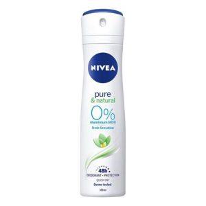 NIVEA DEO SPRAY 150ML 0%ALUMINIO PURE&NATURAL