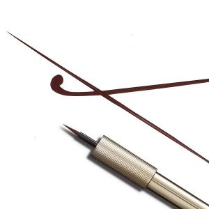 matte signature eyeliner liquido marron punta