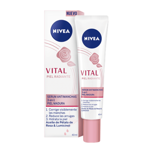 nivea vital piel radiante serum