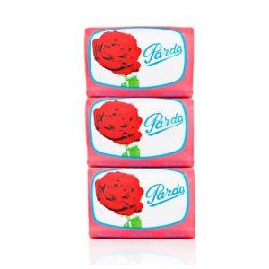 pardo jabon trio rosas