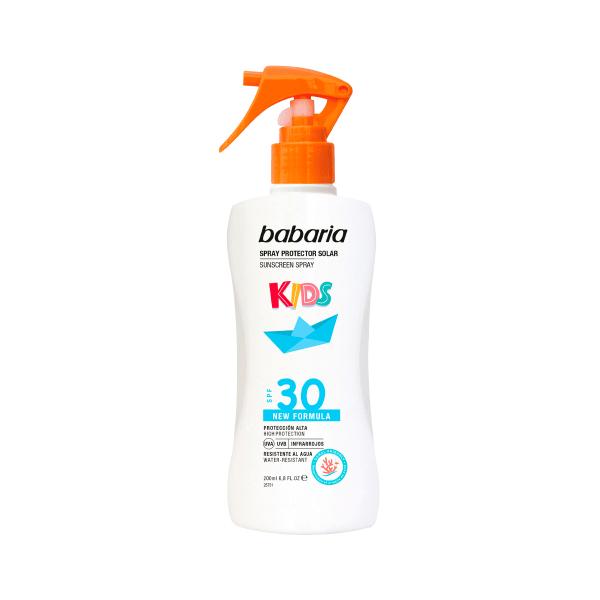 spray crema solar proteccion ninos kids babaria spf 30