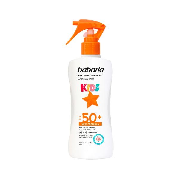 spray crema solar proteccion ninos kids babaria spf 50 plus