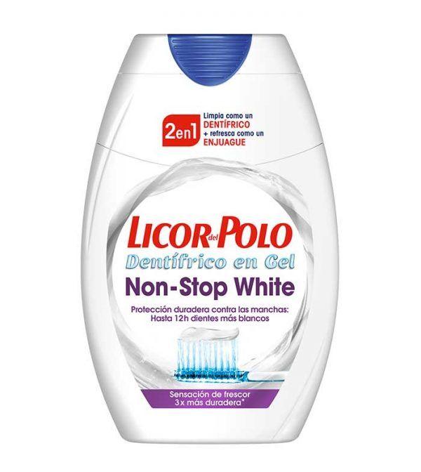 licor del polo pasta de dientes 2 en 1 non stop white